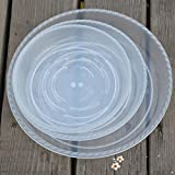 Peicees Extra-thick Round Clear Plant Pot Saucers Resin for Outdoor Indoor Use Assorted 6''/8''/10'',Pack of 15