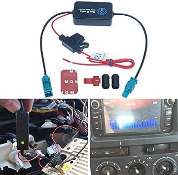 FEELDO Amplificador de señal de antena de radio de coche de ...