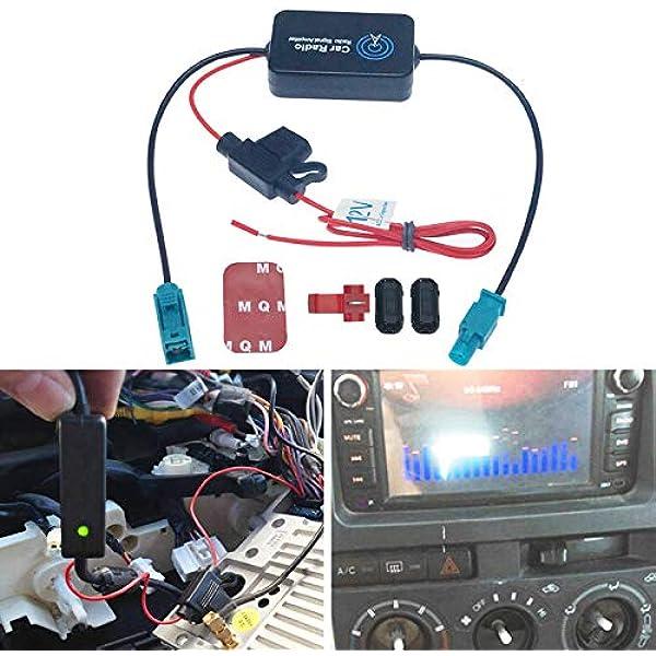 FEELDO Amplificador de señal de antena de radio de coche ...