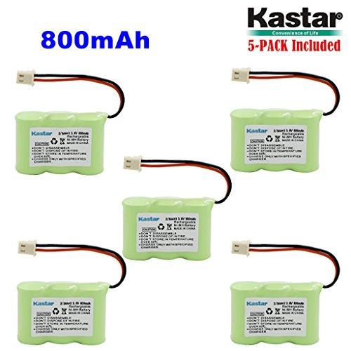 Kastar 5-PACK 2/3AA 3.6V 800mAh 5264 Ni-MH Rechargeable Battery for Home Phone V-Tech 80-1338-00-00 89-1332-00-00 89-1338-00 BT-17333 BT-27333 BT-17233 BT-27233 BT-163345 BT-263345 Cordless Telephone
