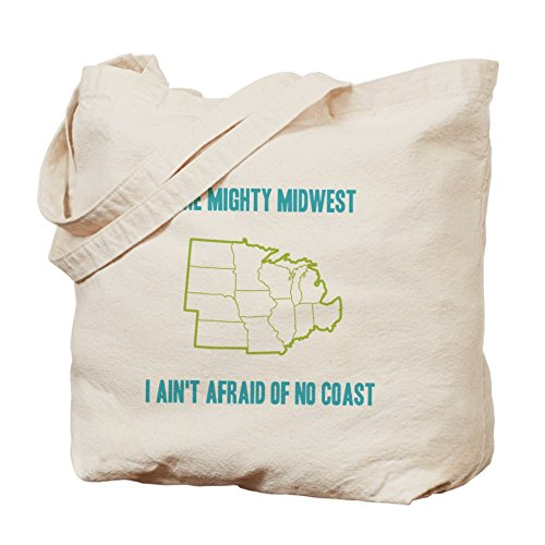 CafePress - The Mighty Midwest - Natural Canvas Tote Bag, Cloth Shopping - Shopping North Kansas City