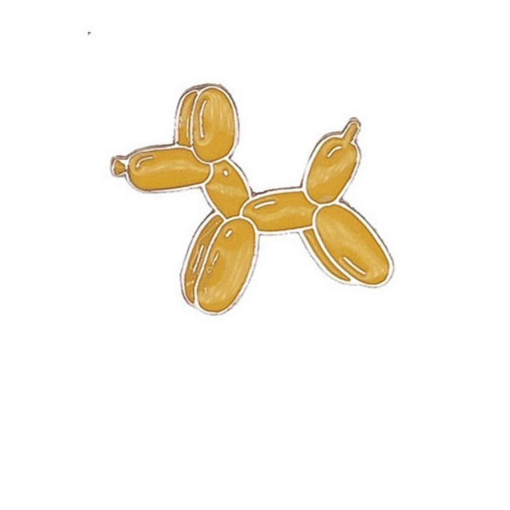 DONGMING Lovely Alloy Brooch Ice Cream Polar Bear Astronaut Crane Enamel Brooch Pins for Women Denim Jacket Pin Cartoon Badge Collar Lapel Pin Jewelry Gift,Balloon Dog