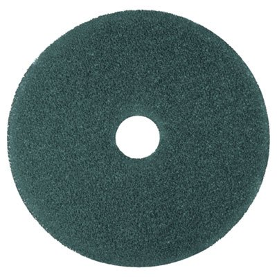 3M Low Speed Blue Floor Cleaning Pads 5300 - Round, 13 inch Diameter, 1 inch Thick, Non Woven Nylon-polyester Fiber, Perforated Center Hole, for Heavy Duty Scrubbing Prior To Recoating, Use On Rotary and Automatic Low Speed -- 5 per case.