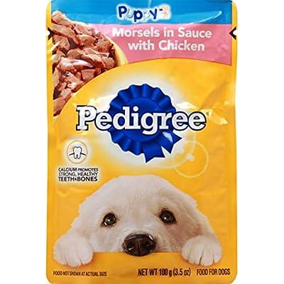 PEDIGREE Chicken Wet Dog Food Morsel in Sauce 3.5 OZ - 0023100119051