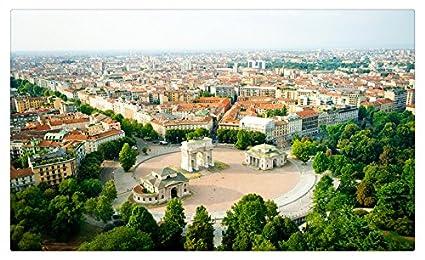 Amazon Com Italy Houses Street Trees Milano Cities Travel