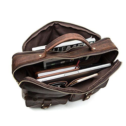 Business 8001 Vintage Hombres B Cuero Marrón Laptop GTUKO Bolsas Shoulder Bolsos Bag Bolso Crossbody De café Cartera Messenger De Genuino Cuero SAwwq6Tg