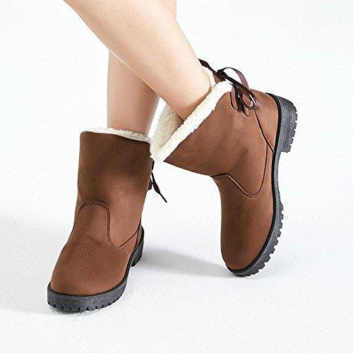 cotone caldo Snow skid taglie inverno scarpe di cashmere Brown Boots stivali wRrzqxRPI