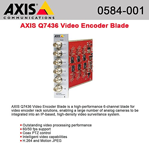 Axis Communications 0584-001 6-Channel Video Encoder Blade for Security - Usa 001