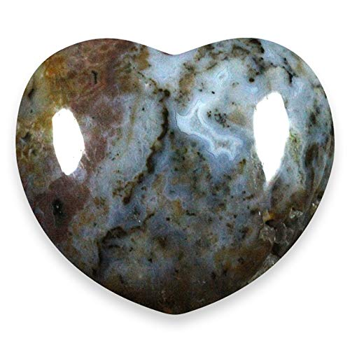 Ocean Jasper Crystal Heart ~45mm