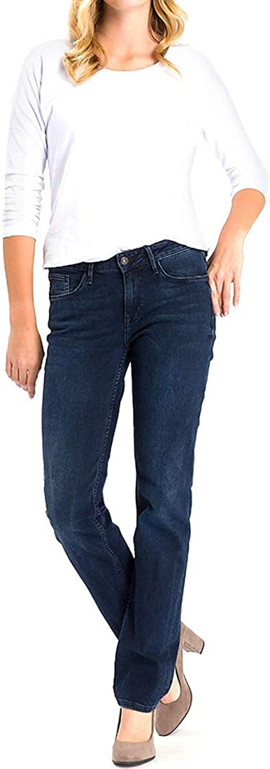 Jeans Straight Donna Cross Rose