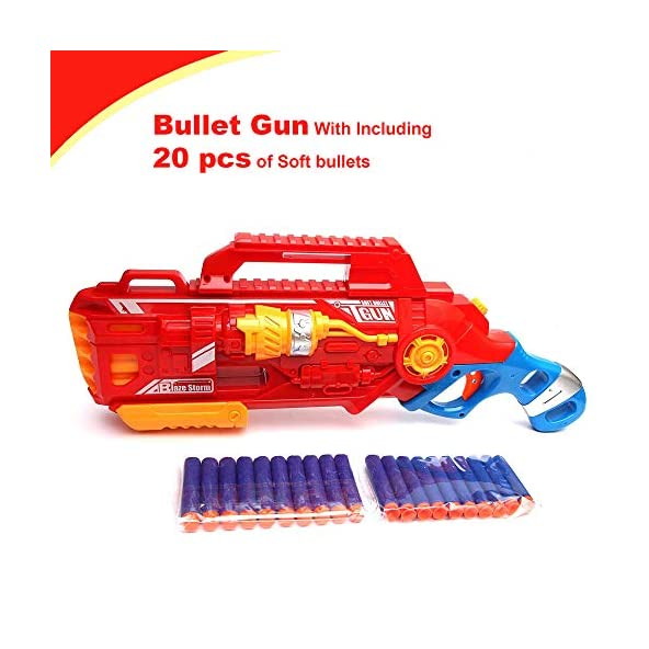 Wembley Toys Blaze Blaster Storm Hot Fire Shooting Gun Toy with 20 Soft Foam Bullets