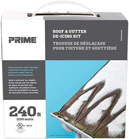 Prime Wire & Cable RHC1200W240 ROOF & GUTTER DE-ICING KIT ROOF HEATING CABLE