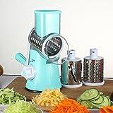 xoxo salad chopper - Vegetable Mandoline Slicer ,Helet 3 Stainless Steel Blades Multi-Function Vegetable Chopper Fast Shredding Spiralizer (Blue)