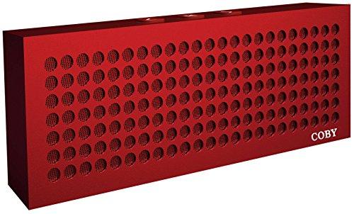 Coby Aluminum Brick Bluetooth Speaker  Red