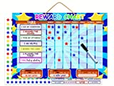 kindergarten charts - Magnetic Reward Chart | Dry Erase Children's Chore And Task Planner | Encourage Good Behavior and Responsibility | Thick Buttons For Tiny Fingers | Hanging Loop And Printable Colouring Sheets