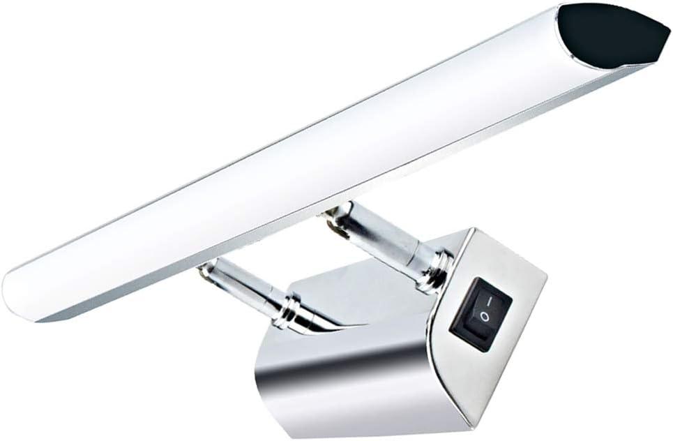 Luxvista 9W 57CM Aplique Espejo Baño LED Impermeable, Luz Espejo Baño, Ángulo Ajustable Lámpara de Espejo con Interruptor, para Iluminación de Cuadro en Pared, Armario, Pared (Blanco Natural)