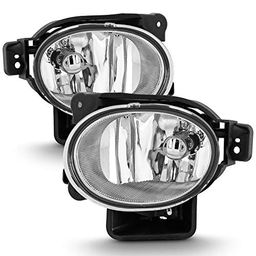 ACANII - For 2007-2008 Acura TL Clear Bumper Fog Lights Assembly Driving Lamps+Bulbs Aftermarket Driver & Passenger - Tl Acura Bumper