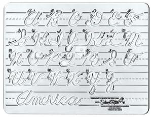 Amazon.com: School-Rite Cursive Handwritting Template ...