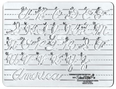 Amazon.com: School-Rite Cursive Handwritting Template, Writing ...