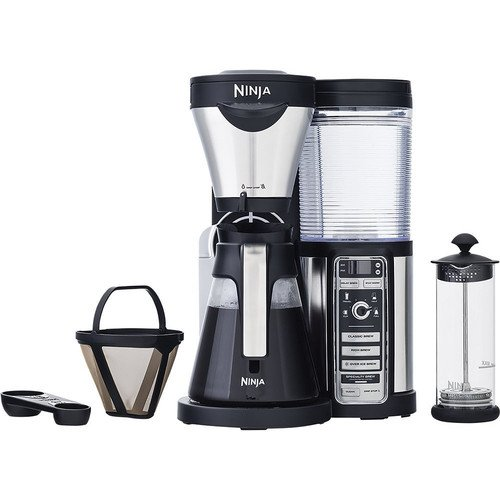 Ninja Coffee Bar Brewer, Glass Carafe, Silver (Certified Refurbished)