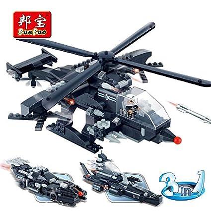 Amazon.com: Orchilld 8488 - Bloques 3 en 1 para helicópteros ...