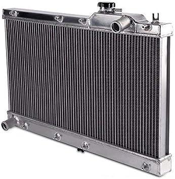 2 row Aluminum radiator for MAZDA MIATA MX5 1.6L 1.8L 1990-1997 91 92 93 Manual