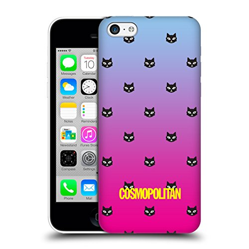 Official Cosmopolitan Sky Blue And Pink Lovey The Cat Hard Back Case for Apple iPhone 5c