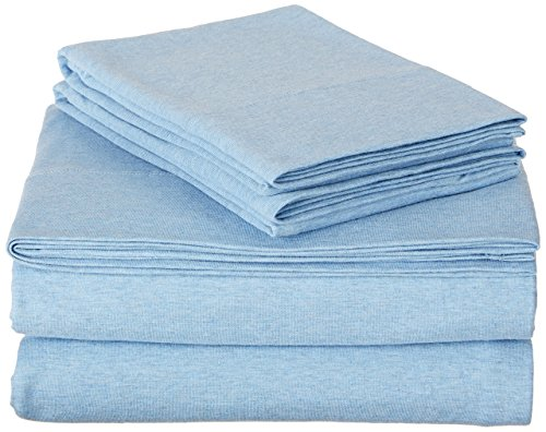 AmazonBasics Heather Jersey Sheet Set