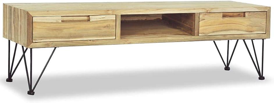 vidaXL Teca Mueble de Televisón 120x35x35 cm Madera Aparador ...