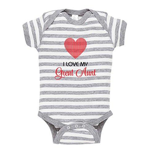 1cd12285699 I Love My Great Aunt Baby Kid Stripe Fine Jersey Bodysuit Grey Newborn