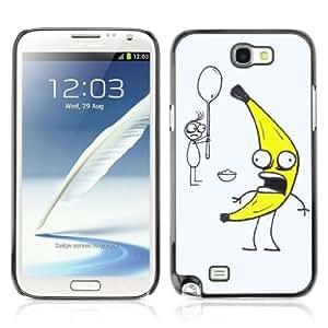 YOYOSHOP [Funny Banana Illustration] Samsung Galaxy Note 2 Case