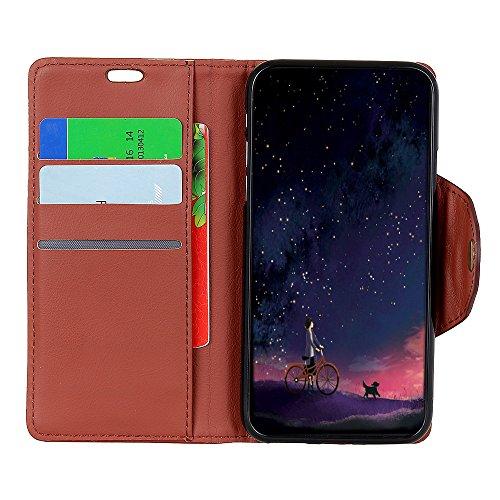 Funda Huawei Mate 10 Pro [Happon] Ranuras para Tarjetas y Billetera Carcasa PU Libro de Cuero Flip Leather Cierre Magnético Soporte Plegable para Huawei Mate 10 Pro (Marrón) Marrón