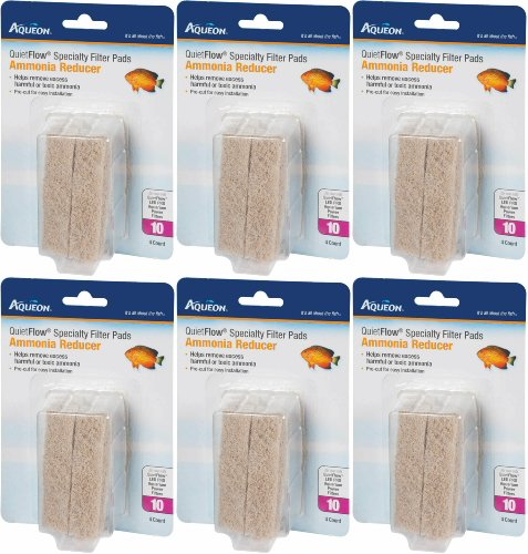(Aqueon QuietFlow Ammonia Reducer 10 Specialty Filter Pads, 24ct (6 x 4ct))