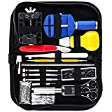 147Pcs Professiona Watch Repair Kit Watch Battery Replacement Band Link Pin Computer Phone/Pad/Samsung Repairi Tools With Canvas Bag