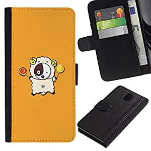 KingStore / Leather Etui en cuir / Samsung Galaxy Note 3 III / Lindo Cordero