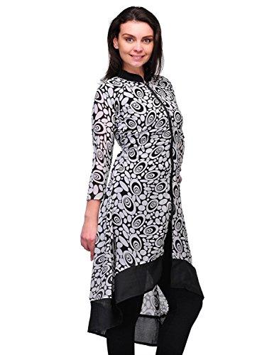 ELINA FASHION Women's Indo-Western Tunic Top Cotton Kurti X-Large - Embellished Fashion