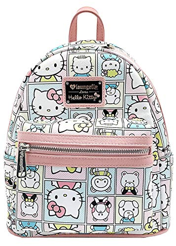 Loungefly x Sanrio HELLO KITTY FRIENDS Mini Backpack, White/Pink