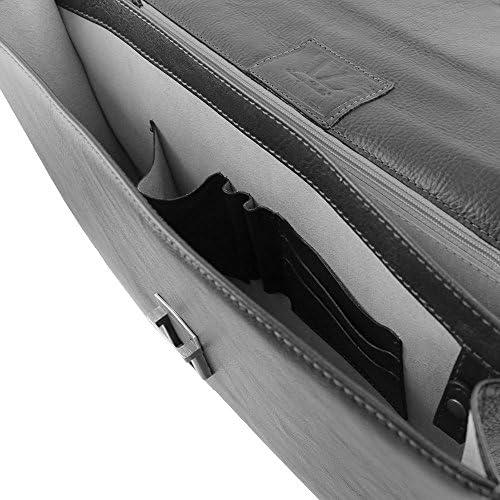 TUSCANY LEATHER - Parma - Cartable en cuir avec 2 compartiments - Miel - Homme