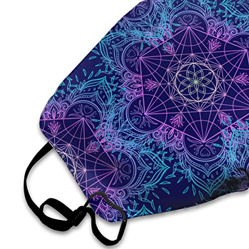 Sacred Geometry Symbols Pattern Mens Womens Anti Dust Face Mouth Mask for Running Cycling | Reusable Anti-Dust Mouth Mask White