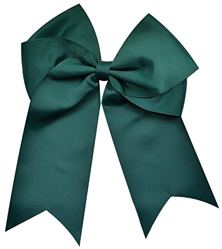 (Funny Girl Designs Extra Large Classic Uniform Cheer Bow - Choose Your Color! (Hunter Green))