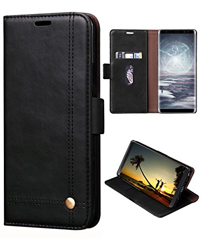 Samsung S9 Plus Case,Galaxy S9 Plus Wallet Case, FLYEE Ultra Thin Slim Folio Cover PU Leather Magnetic Protective Cover with Credit Card Slots Stand Holder