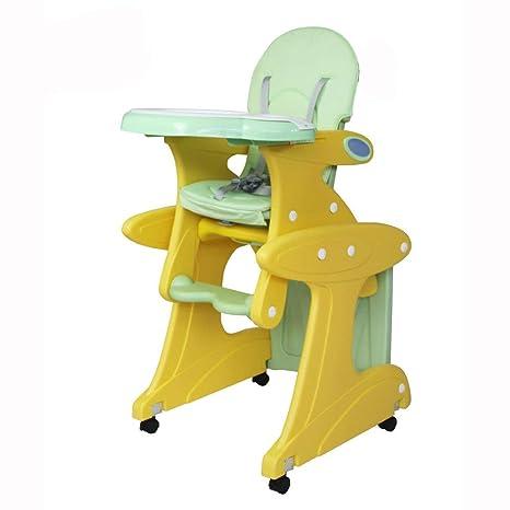 WANG-LONG Silla De Comedor Trona para Niños Mecedora Ambientalmente Flexible Multifunción De Plástico ABS