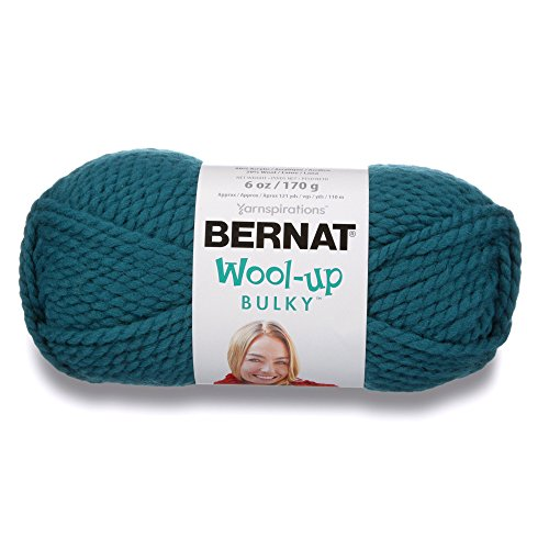 Bernat Wool-Up Bulky Yarn, 6 Ounce, Teal, Single - Teal Yarn Wool