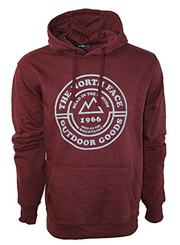 The North Face Men's 80/20 Graphic Pullover Hoodie (DEEP Garnet RED/MID Grey) ()