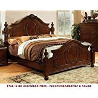 247SHOPATHOME Idf-7952CK Bed-Frames, California King, Cherry