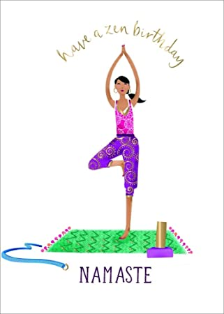 Amazon.com : Ling Design Yoga Woman Zen Birthday Card for ...