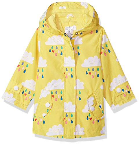 Carter's Baby Girls Her Favorite Rainslicker Rain Jacket, Rainy Day Yellow, 12M