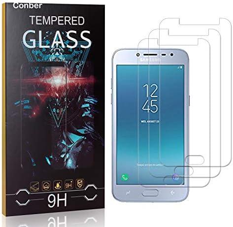 Conber [3 Stück] Displayschutzfolie kompatibel mit Samsung Galaxy J2 Pro 2018, Panzerglas Schutzfolie für Samsung Galaxy J2 Pro 2018 [9H Härte][Hüllenfreundlich]