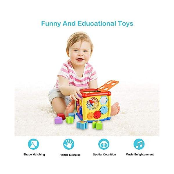 AiTuiTui Cubo attività Bambino, 6-in-1 Multifunzione Giochi Centri Educativi Prima Scatola di apprendimento Infanzia… 6