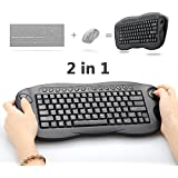 Mini Wireless Keyboard, Oley 2.4 GHz 2in1 Wireless Mouse Keyboard Computer TV Box Remote Control Support PC/Xbox 360/PS3/HTPC/IPTV with Trackball